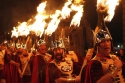 Edinburghs Hogmanay - Torchlight Procession - Up Helly Aa Vikings - credit Lloyd Smith