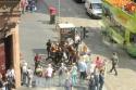 Royal Mile Mansion view of Fringe performers