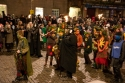 """CRW_2812\"" by Tom Page, depicting a torchlit procession along the Royal Mile during the Samhuinn Fire Festival 2008"