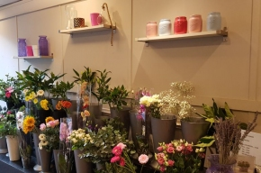 Banks florists display (2) - Valentine's Day in Edinburgh