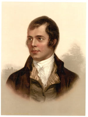 Robert Burns portrait (rescaled), By Detroit Publishing Company [Public domain], via Wikimedia Commons